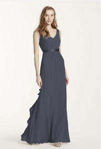 Formal Dress Size 2 from Davids Bridal in a Charcoal Grey