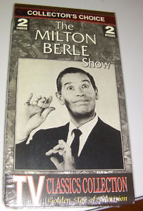 NEW----2 VHS tapes of the Milton Berle show (classic collection)