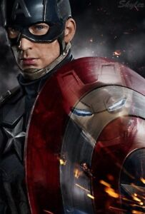 Captain America poster (new, sealed,24x36)