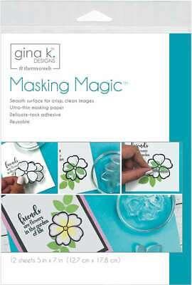 "Gina K Designs Masking Magic Sheets 5""X7"" 12/Pkg 000943181231"