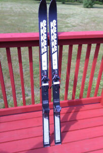 K2 Skis Size 150 cm Look 49 Bindings Black Silver 118