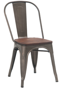 INDUSTRIAL METAL DINING CHAIR BAR STOOL