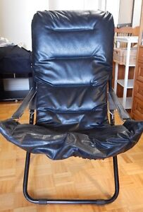 Black Faux Leather Chair – Foldable Kitchener / Waterloo Kitchener Area image 1