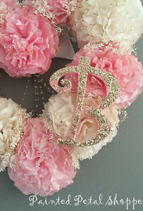 Coffee Filter Princess Monogrammed Baby Girl Wreath/ Nursery Belleville Belleville Area image 4