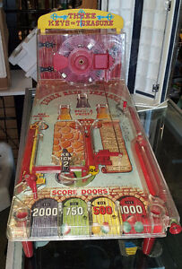 "1957 MARX Toy PINBALL ARCADE ""THREE KEYS TO TREASURE"" With Origi"