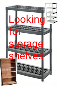 LOOKING FOR STORAGE SHELVES