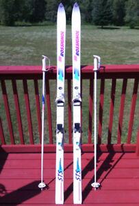 Rossignol Skis 185 cm Diamond Stone R7000 Bindings & Poles Tecno