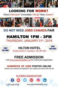 HAMILTON JOB FAIR - JANUARY 31ST, 2019