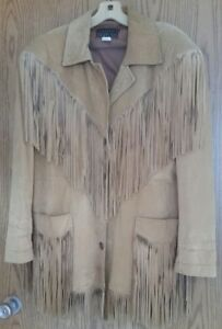 fully fringed suede coat
