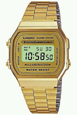Brand New 100% Original Casio A-168wg-9a.Unisex gold tone watch