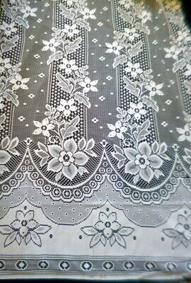 """New European Sheer Lace Curtain Fabric 104"""" Long Adjustable Fabric Width By Yard for sale  Shipping to Canada"""