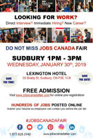 FREE: Sudbury Job Fair - January 30, 2019