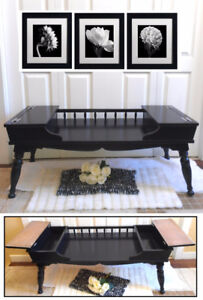 Newly Refinished! Vintage Flip-Top Storage COFFEE Table