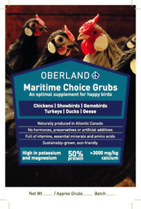 Maritime Choice Grubs - Poultry Feed Supplement
