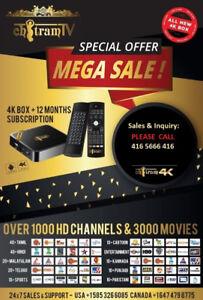 free iptv box + 12 month subscription $120
