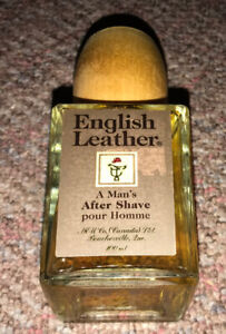 Vintage English Leather After Shave For Men Cologne Bottle Full