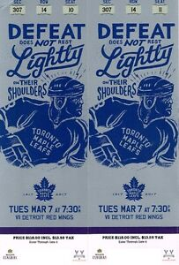 Maple Leafs and Detroit Red Wings - Tues Mar 7