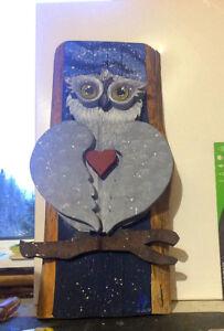 Custom Owl Art Piece
