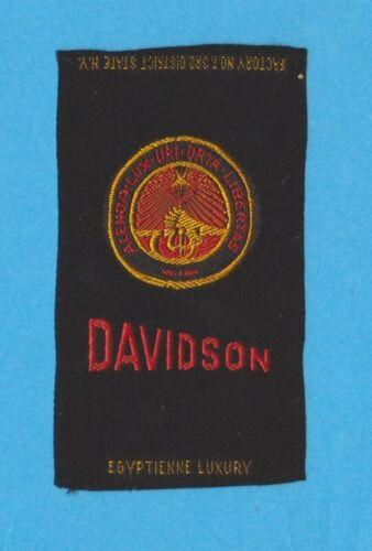 1910s S25 tobacco / cigarette / college silk   DAVIDSON UNIVERSITY  - NICE!!