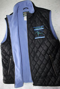 2006 World Jr. Figure Skating vest - Black & Periwinkle blue Kitchener / Waterloo Kitchener Area image 2
