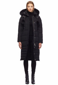 Moose Knuckles Saskatchewan Parka in Black with Black Fur
