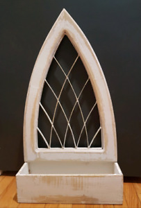 SHABBY CHIC WROUGHT IRON GOTHIC FAUX WINDOW PLANTER