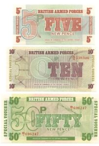 BILLET PAPIER MONNAIE ANGLETERRE BRITISH ARMED FORCES 1972