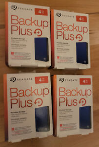 Seagate Backup Plus 4TB Portable External Hard Drive (BRAND NEW)