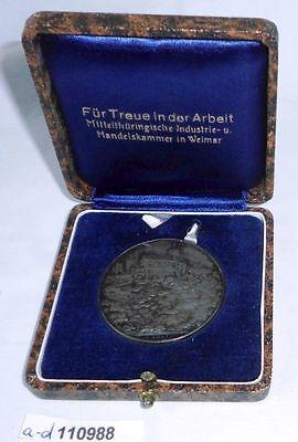 Medaille Handelskammer Weimar für treue in der Arbeit im Originaletui (110988)