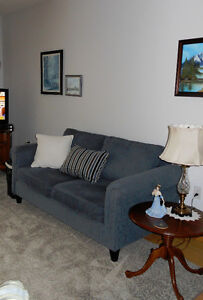 Condo Size Sofa and Wing Chair/ottoman