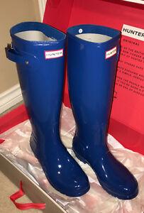 NEW Women's Original Tall Gloss Hunter Boots Size 9.