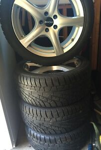 """18"""" Winter Tires, 245/45R18 with Rim & TPMS"""