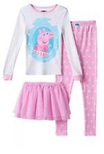 Peppa Pig Pajamas Set 3 PC Girls XS Size 4 Ballerina Tutu ...