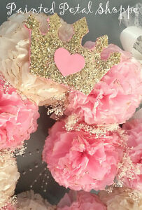Coffee Filter Princess Monogrammed Baby Girl Wreath/ Nursery Belleville Belleville Area image 3