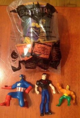 McDONALD'S SUPERHERO Lego Batman Movie Batgirl / Joker Cup Captain...lot of 4