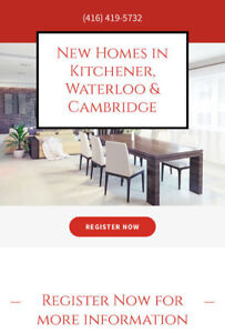 New/Pre-construction homes in Kitchener, Waterloo or Cambridge