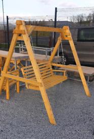 Wooden garden swing seat Garden furniture benches