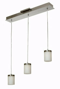 Gen-Lite 105074  LED 3 Light Chrome Modern Ceiling Fixture $450