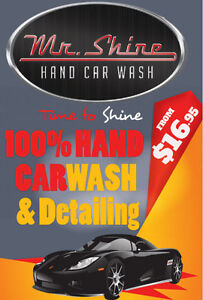 HAND CAR WASH and DETAILING 10% OFF SPECIAL