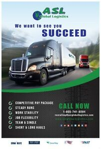 AZ Owner Operators Required for our Brampton to Quebec lanes