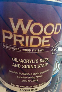 DECK/FENCE WOOD STAIN - a few gallons left