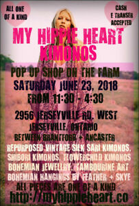 MY HIPPIE HEART ONE OF A KIND KIMONOS POP UP SHOP + MORE