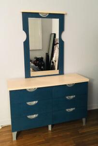 Commode, miroir et table de chevet