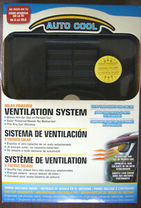 """Auto-Cool Ventilation System, Solar Power """"As Seen On TV"""", NEW!"""