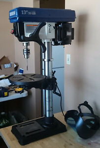 "RIKON 30-120 13-Inch Drill Press with 23"" Woodpecker Press table"