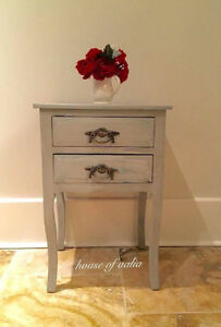 Grey washed foyer/accent table