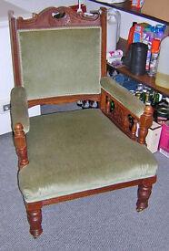 Green parlour chairs