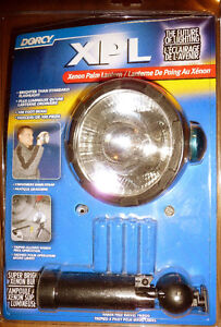 Dorcy flashlight palm light, xenon, with stand, $3 - new unused,