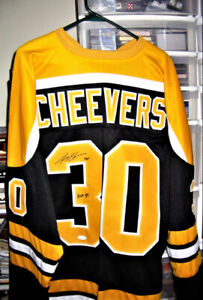 GERRY CHEEVERS SIGNED (CERTIFIED) BOSTON BRUINS JERSEY