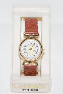 NEW Timex Elegant Classic Womens Watch: Gold Tone, Leather Strap